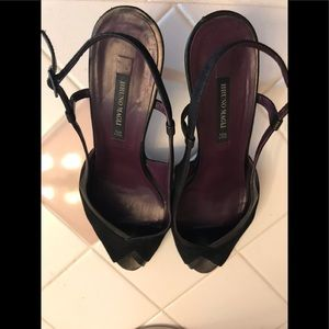 Bruno Magli Leather Sling Backs, Gently Worn.
